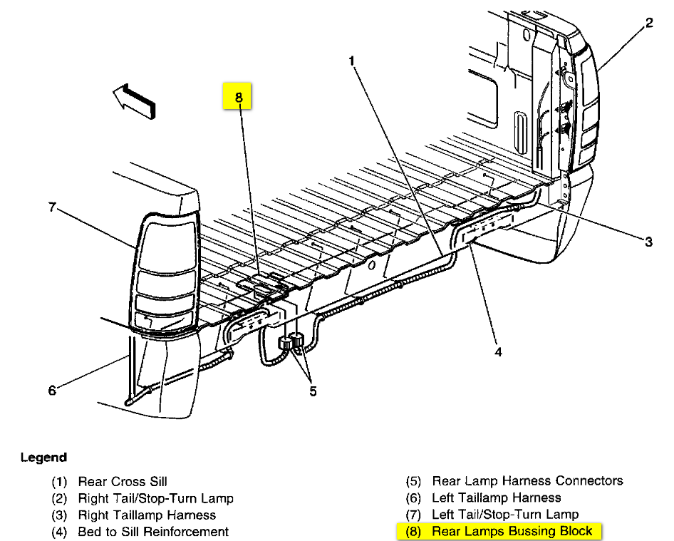 Bl 9390 Gmc Tail Light Wiring Connector Wiring Diagram