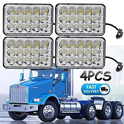 Outstanding Amazon Com 4X6 Sealed Beam Led Headlights For Kenworth T800 T400 Wiring Cloud Ymoonsalvmohammedshrineorg