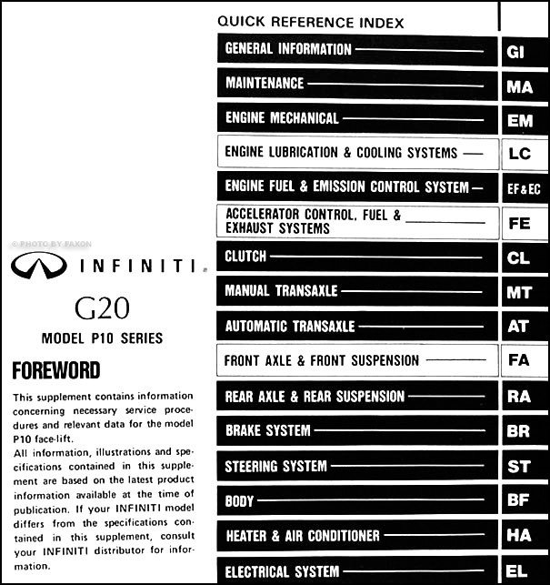 2001 infiniti i30 radio wiring diagram da 5032  1999 g20 infiniti wiring diagram  da 5032  1999 g20 infiniti wiring diagram