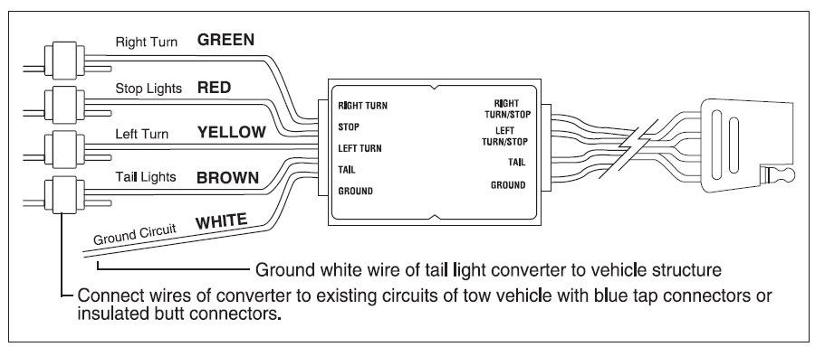 trailer wiring diagram 5 wire to 4 wire  4 way light switch