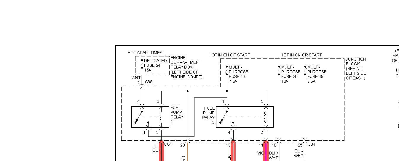 2002 Mitsubishi Galant Fuel Pump Wiring Diagram