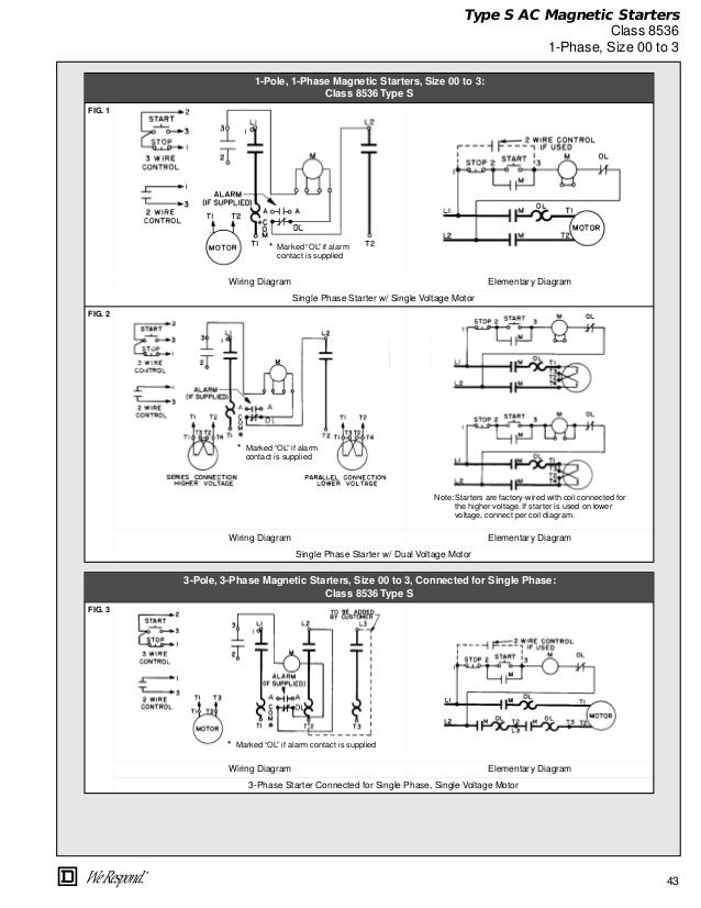 Square D Nema 1 Motor Starter Wiring Diagram