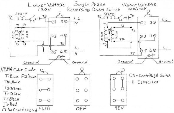 Single Phase Motor Wiring Schematic