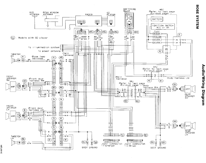 2004 infiniti g35 sedan radio wiring diagram - Wiring Diagram