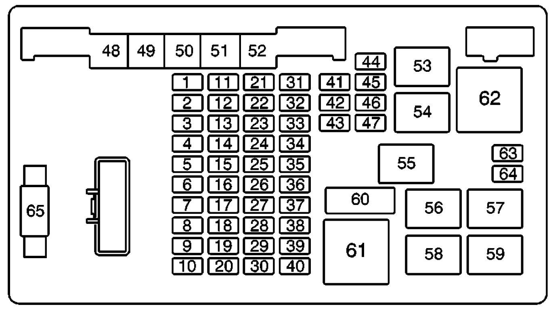 Cf 8184 2003 Chevrolet Silverado 53 P1125 Engine Fuse Box Diagram Car Download Diagram