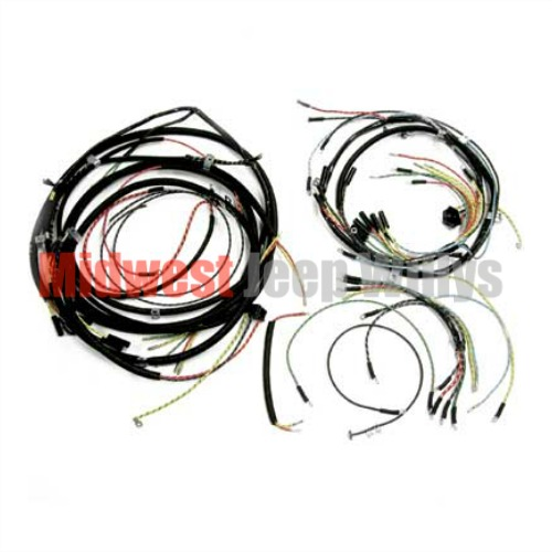 Outstanding Jeep Part 925159 Complete Cloth Covered Wiring Harness Kit For 1957 Wiring Cloud Onicaalyptbenolwigegmohammedshrineorg