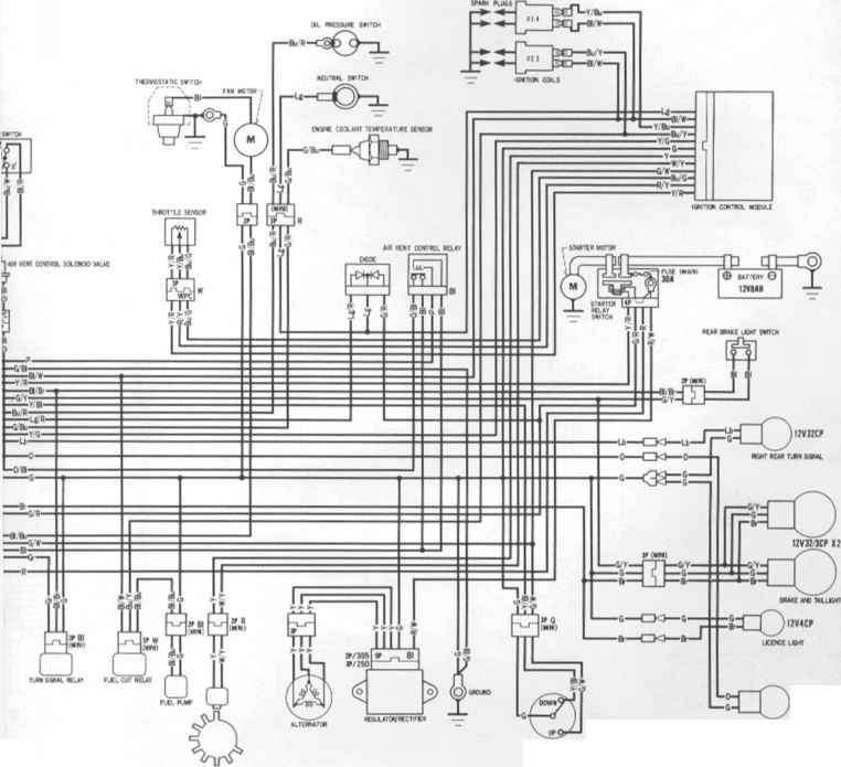 1992 Fzr 600 Wiring Diagram