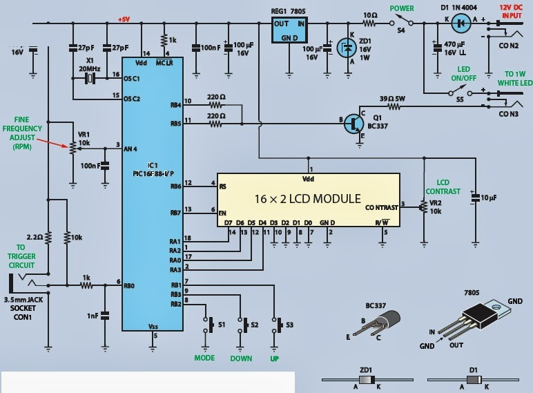 Astounding Led Strobe And Tachometer Electronic Project And Circuit Diagram Wiring Cloud Ymoonsalvmohammedshrineorg