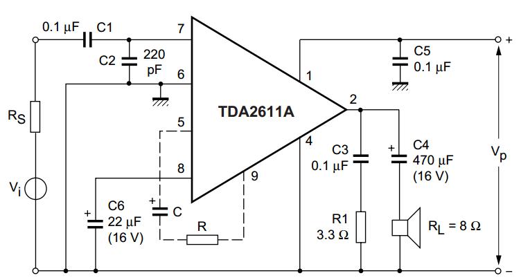 Phenomenal Tda2611A 5 W Audio Power Amplifier Wiring And Schematic Wiring Cloud Lukepaidewilluminateatxorg