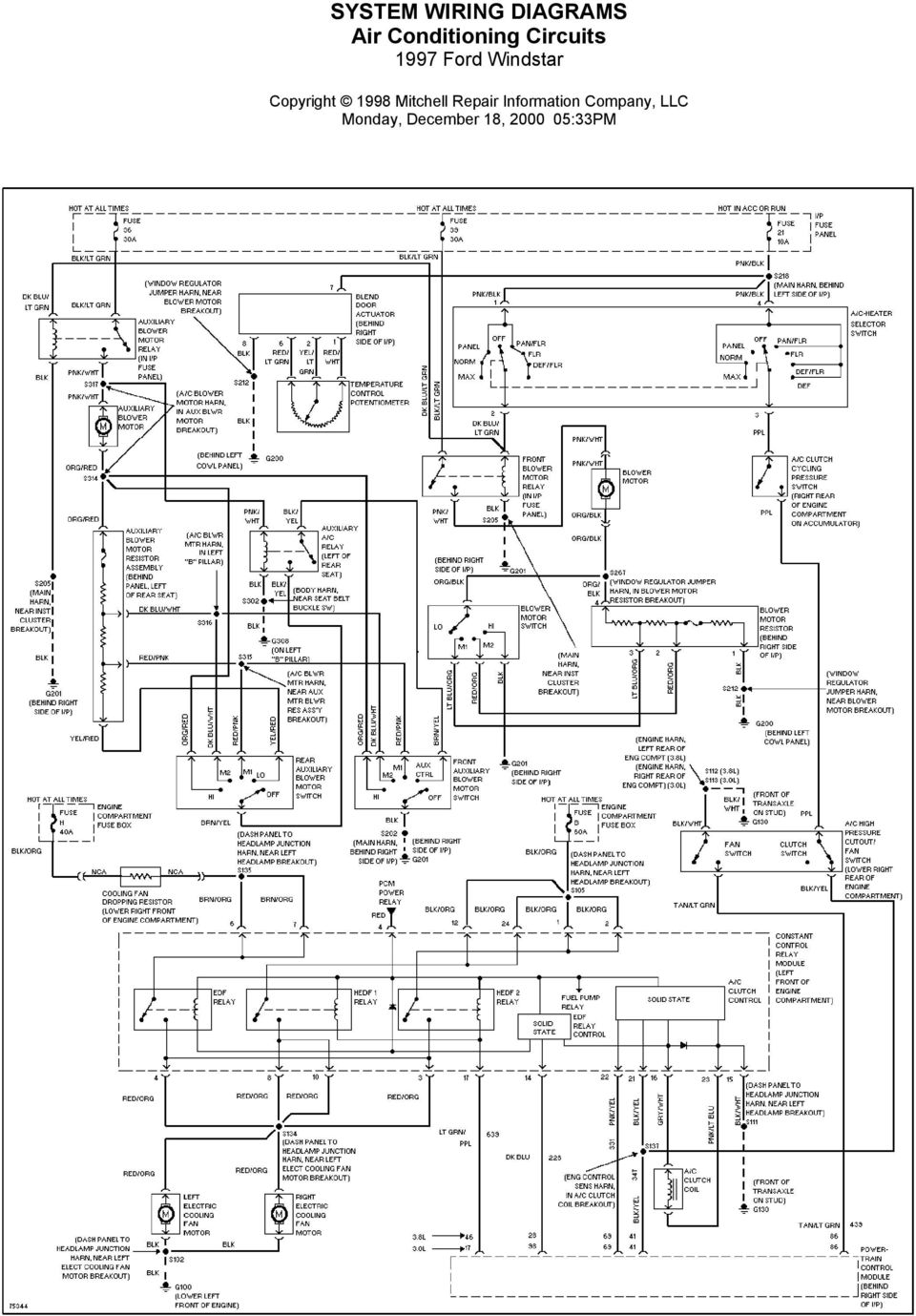 KT_1205] 1997 Ford Windstar System Wiring Diagrams For Front Washer Wiper Wiring  DiagramRious Umng Rect Mohammedshrine Librar Wiring 101