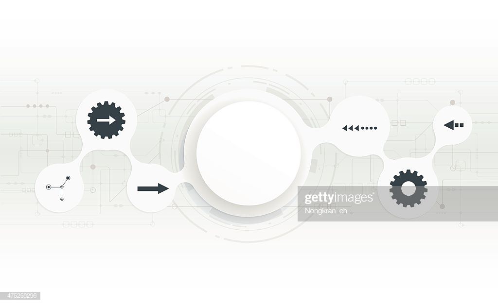 Brilliant Abstract 3D White Paper Circle On Circuit Board Stock Vector Getty Wiring Cloud Orsalboapumohammedshrineorg