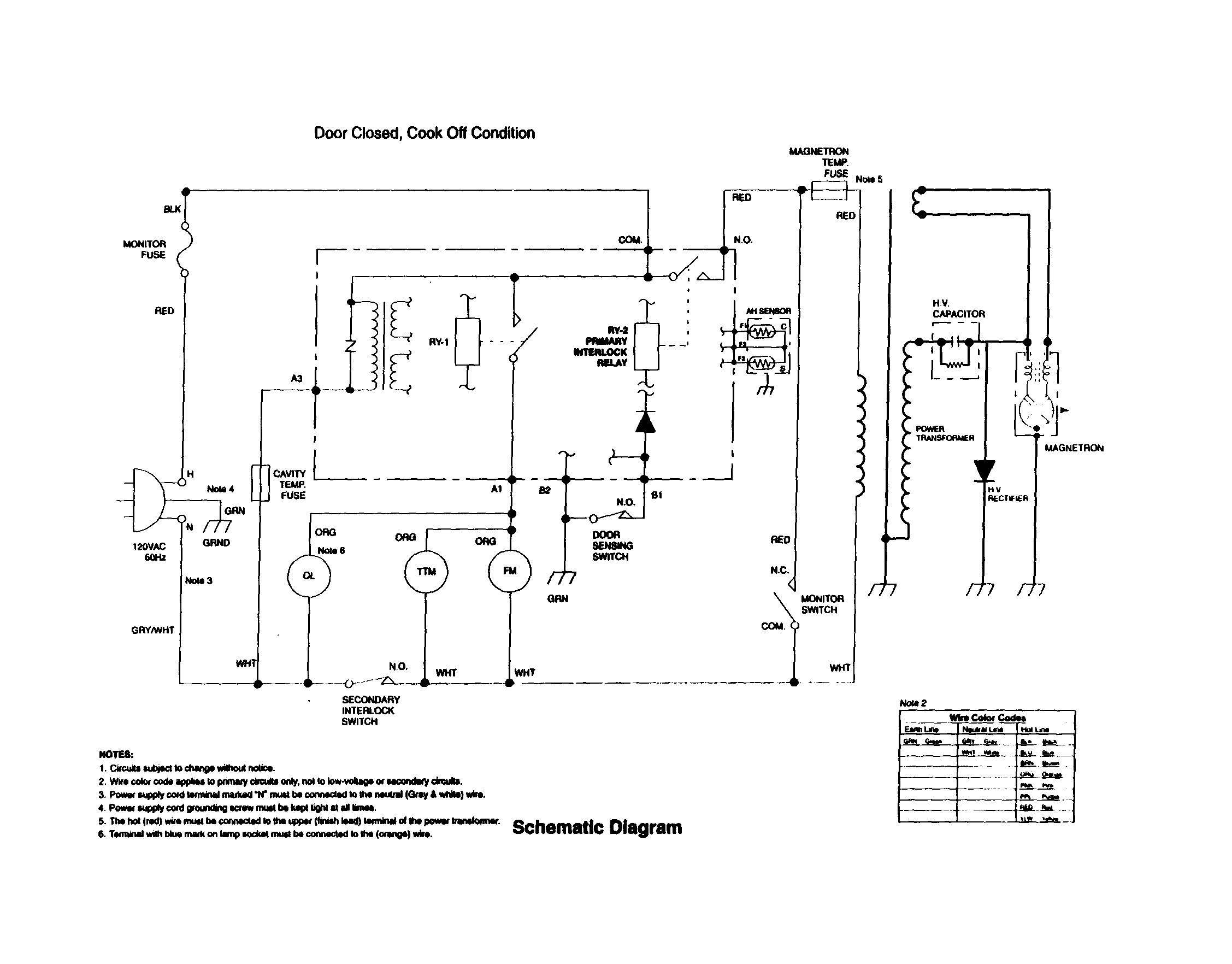 Wiring Diagram For Ge Microwave