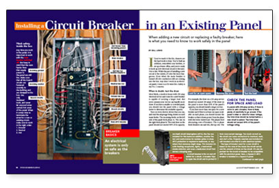 Phenomenal Installing A Circuit Breaker In An Existing Panel Fine Homebuilding Wiring Cloud Overrenstrafr09Org