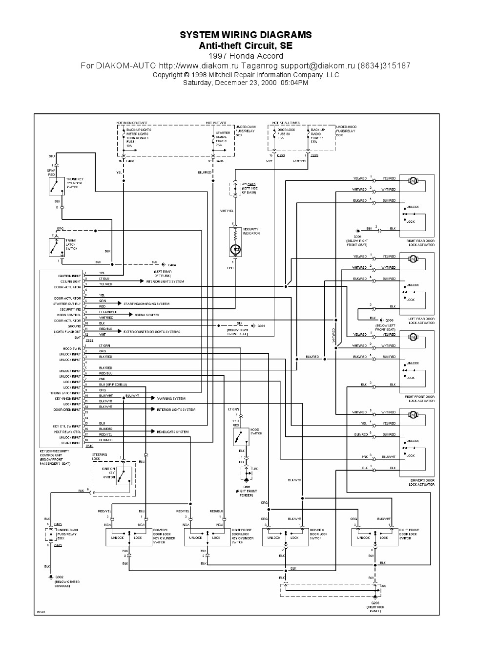 97 Accord Wire Diagram - Wiring Diagram •wiring diagram
