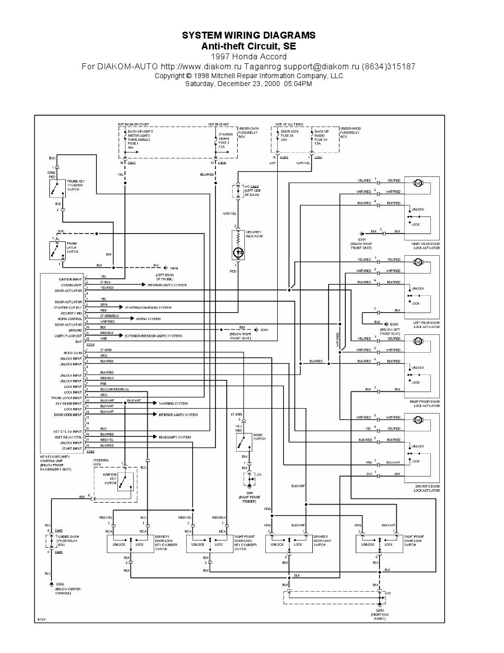 97 Honda Accord Wiring Schematic Electric - General Wiring Diagrams control  - control.leinivbc.it