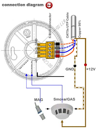 Cd 6424 2 Wire Smoke Detector Wiring Diagram Schematic Wiring