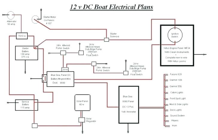 12 Volt Wiring Diagram For Boats - Wiring Diagram