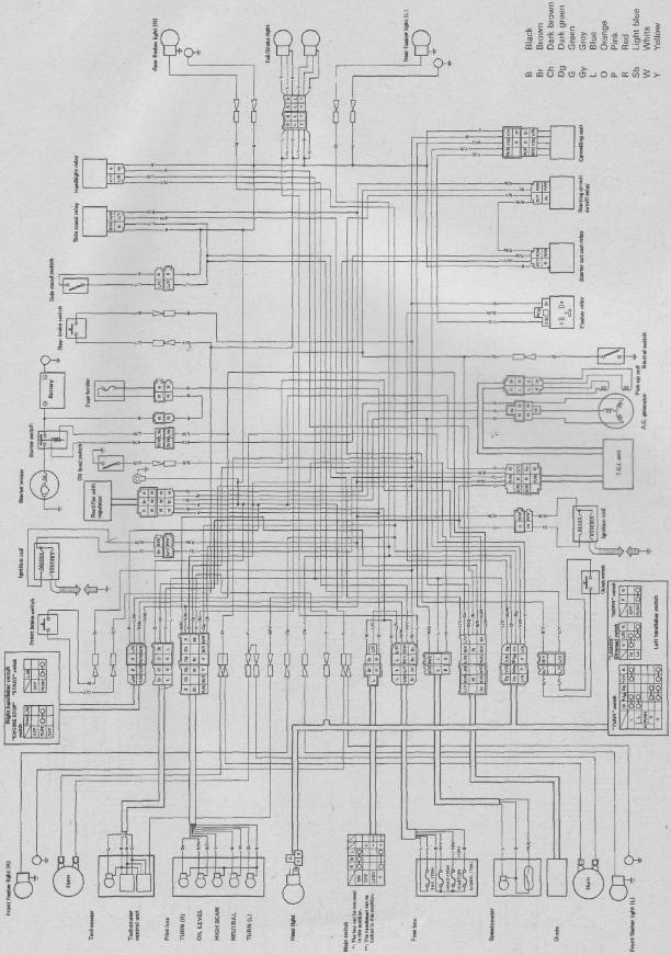1986 Virago 1100 Wiring Diagram