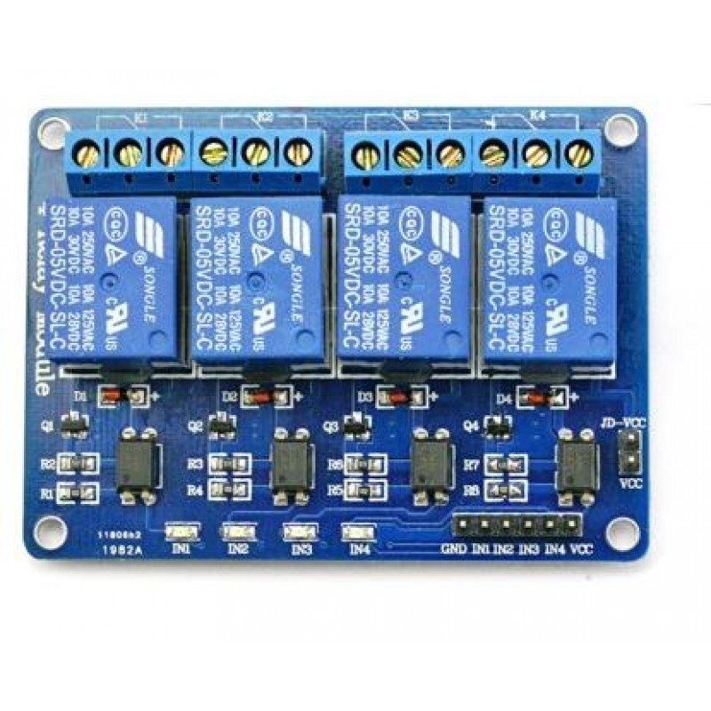 Stupendous Buy 4 Channel Relay Board 5V For Arduino And Raspberry Pi Online Wiring Cloud Lukepaidewilluminateatxorg