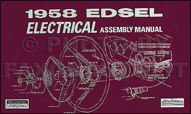 Amazing 1958 Edsel Electrical Assembly Manual Reprint Wiring Cloud Domeilariaidewilluminateatxorg