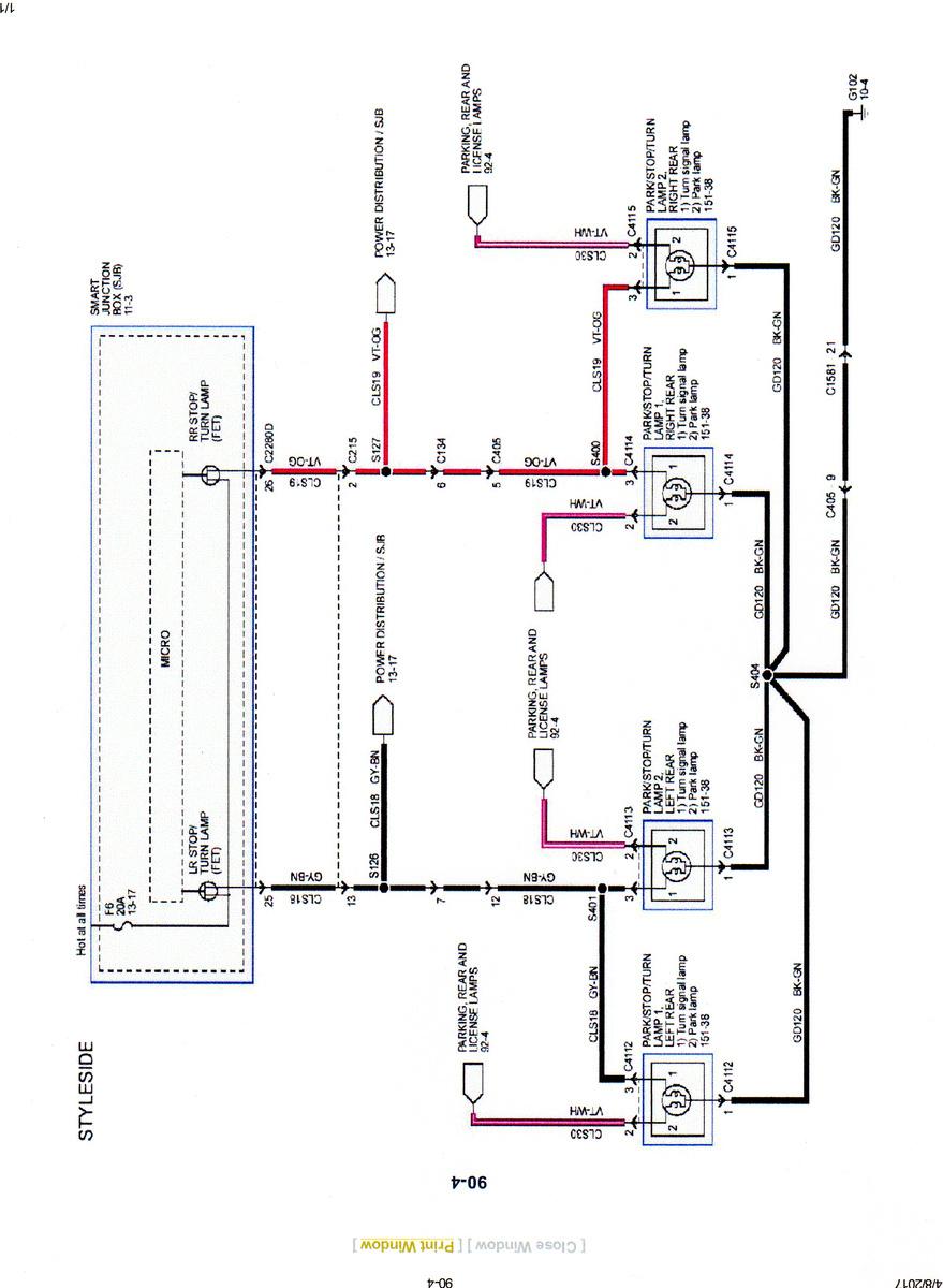 Surprising Ford Light Wiring Diagram Wiring Diagram Database Wiring Cloud Overrenstrafr09Org