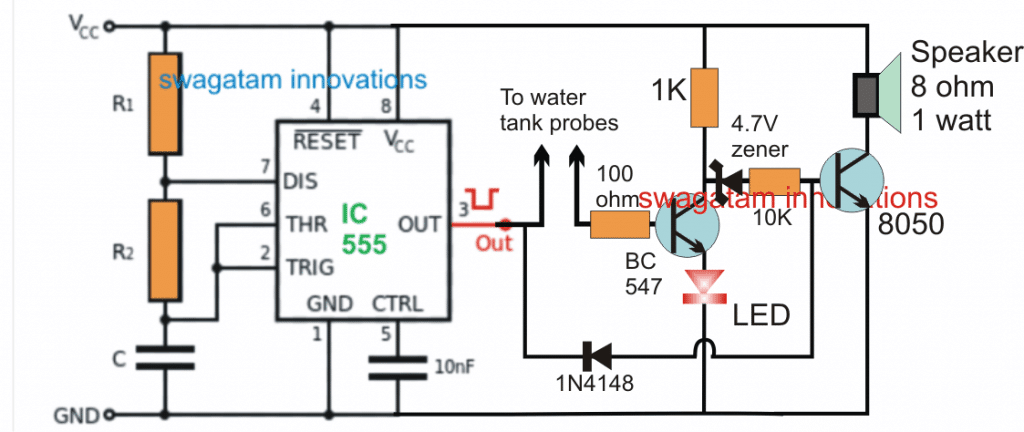 Astonishing Water Level Indicator Rh Electroschematics Com Circuit Diagram Wiring Cloud Licukshollocom