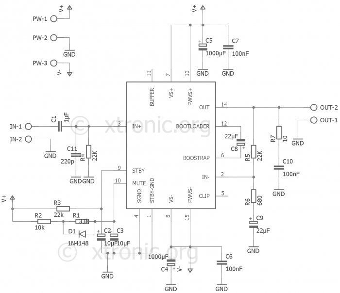 Fantastic Circuit Dynamic Power Amplifier With Tda7294 Bridge 180W Or Stereo Wiring Cloud Mousmenurrecoveryedborg