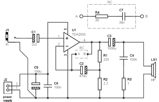 Astonishing 10 W Power Amplifier Based Tda2003 Amplifier Circuit Design Wiring Cloud Hemtegremohammedshrineorg