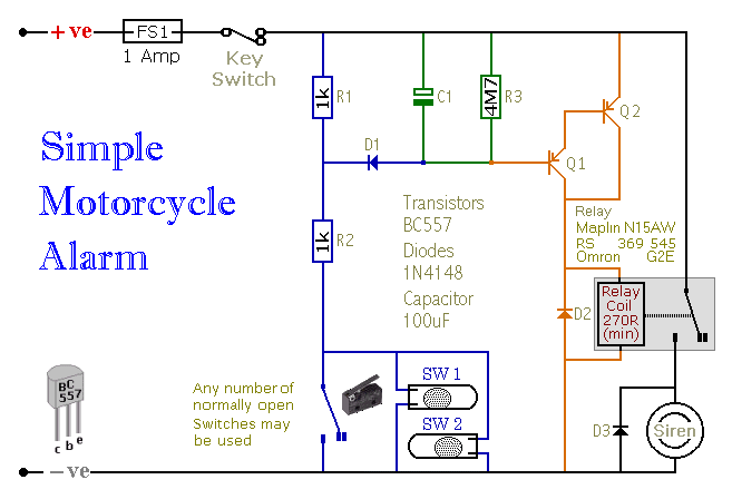 FH_6384] Two Simple Relay Based Motorcycle Alarms Schematic WiringCaba Tixat Exxlu Ivoro Rect Mohammedshrine Librar Wiring 101