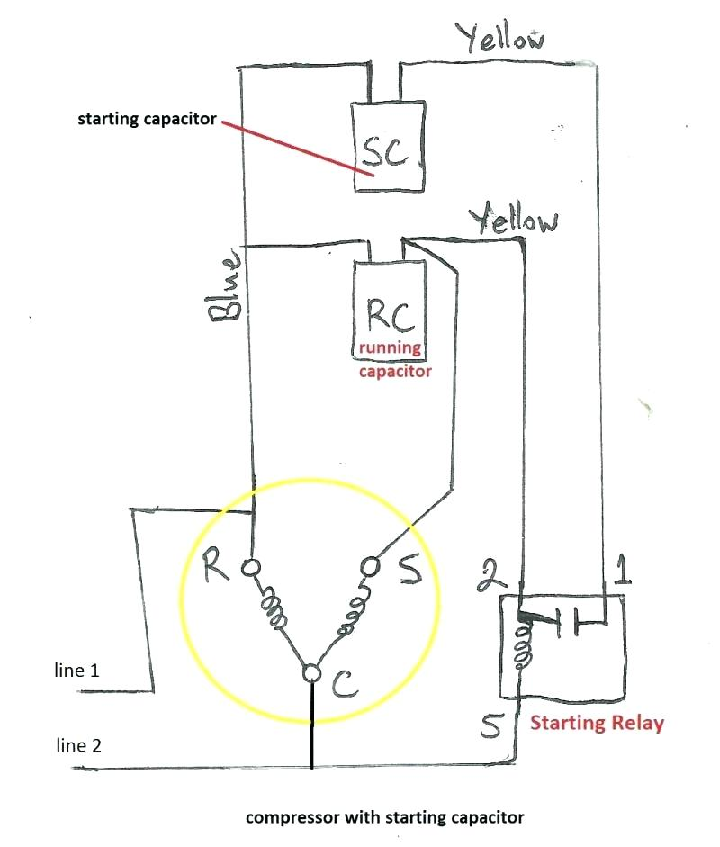 electrical wiring diagram refrigeration tf 4415  refrigerator capacitor wiring diagram free diagram  refrigerator capacitor wiring diagram