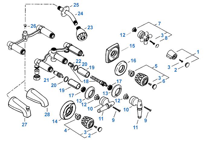 Hd 2969 Faucet Valley Shower Faucet Repair Parts Shower Diverter Valve Diagram Free Diagram