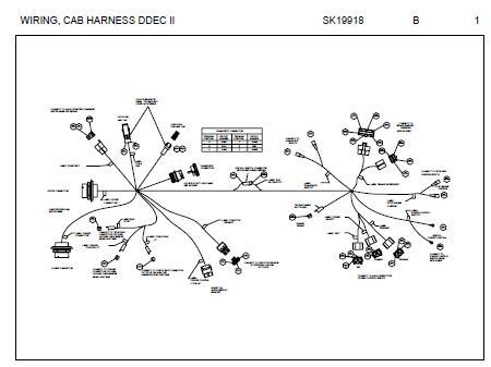 Fantastic Peterbilt Cab Harness Connector Schematic For Models With Detroit Wiring Cloud Hemtshollocom