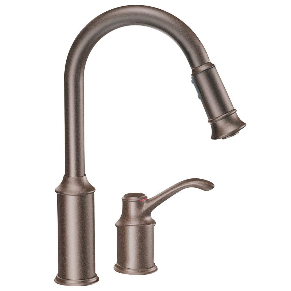 Tremendous Moen Aberdeen Single Handle Pull Down Sprayer Kitchen Faucet With Wiring Cloud Intelaidewilluminateatxorg
