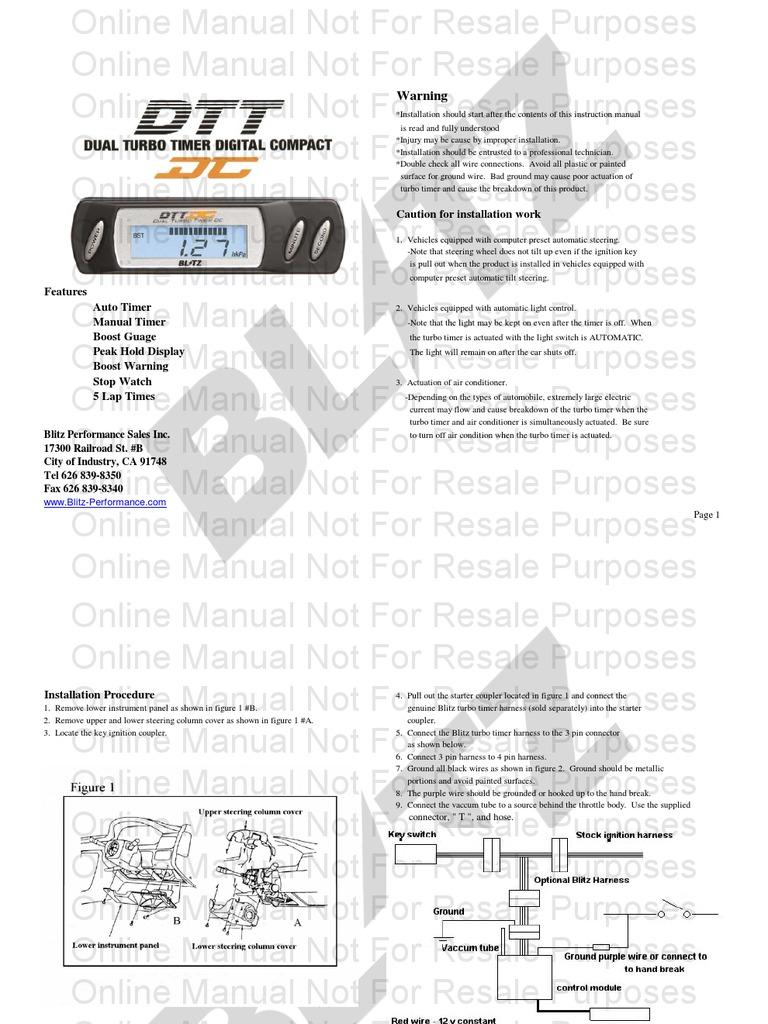 Blitz Turbo Timer Wiring Diagram
