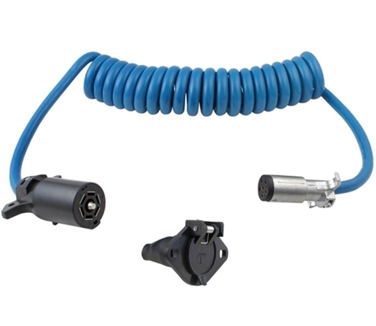 Stupendous Blue Ox Bx88206 7 Way To 6 Way Electrical Coiled Cable Wiring Cloud Faunaidewilluminateatxorg
