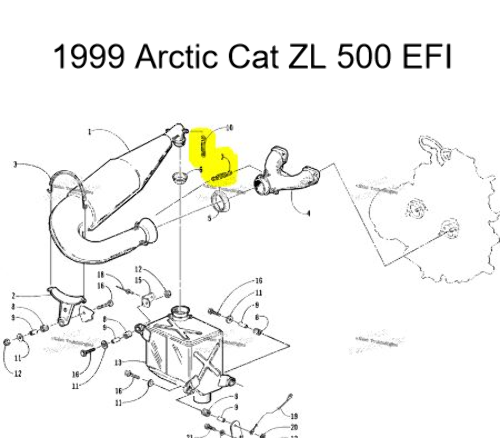 Ey 8425 1999 Arctic Cat Zr 500 Snowmobile Wiring Diagrams Wiring Diagram