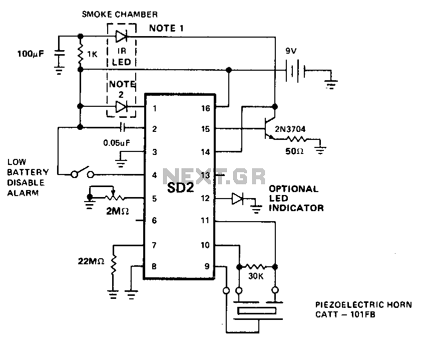 Wg 3283 Photoelectric Smoke Detector Circuit Schematic Download