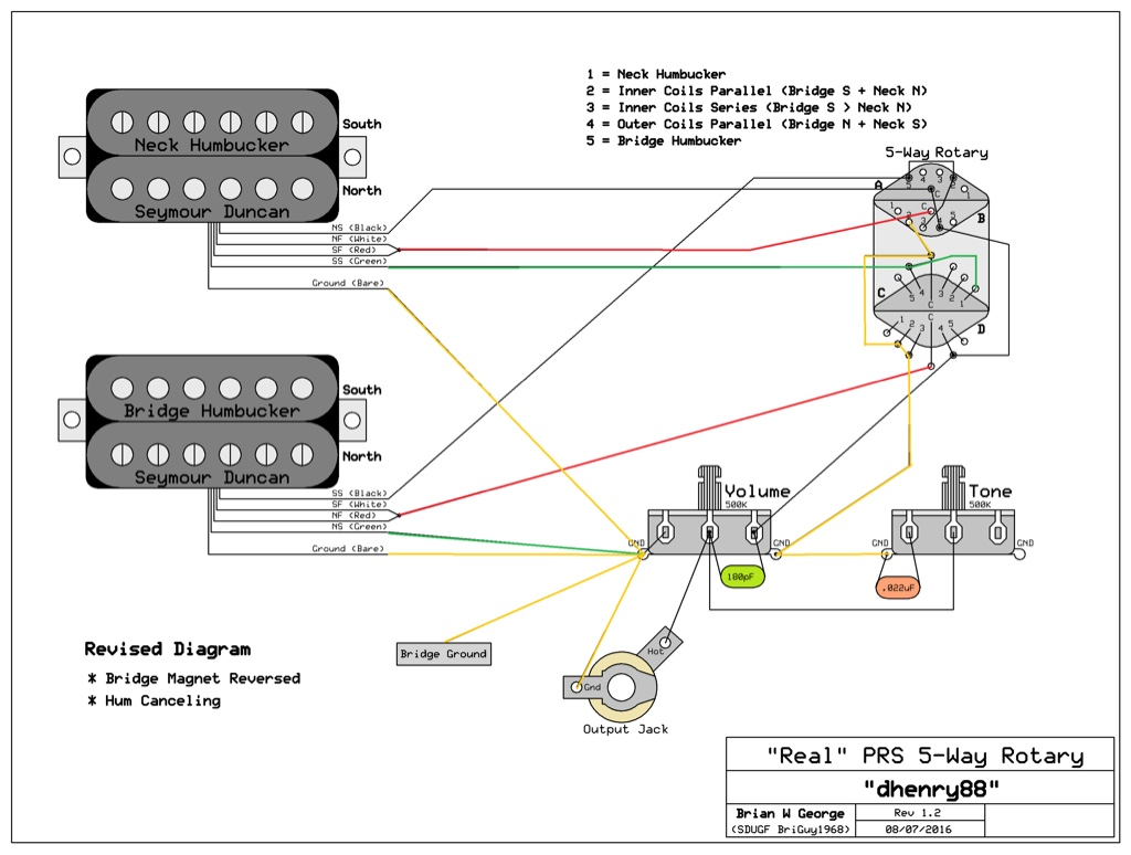 Fd 1201 Found Some Prs Wirings But The Switch Is Different Stew Mac Rotary Wiring Diagram