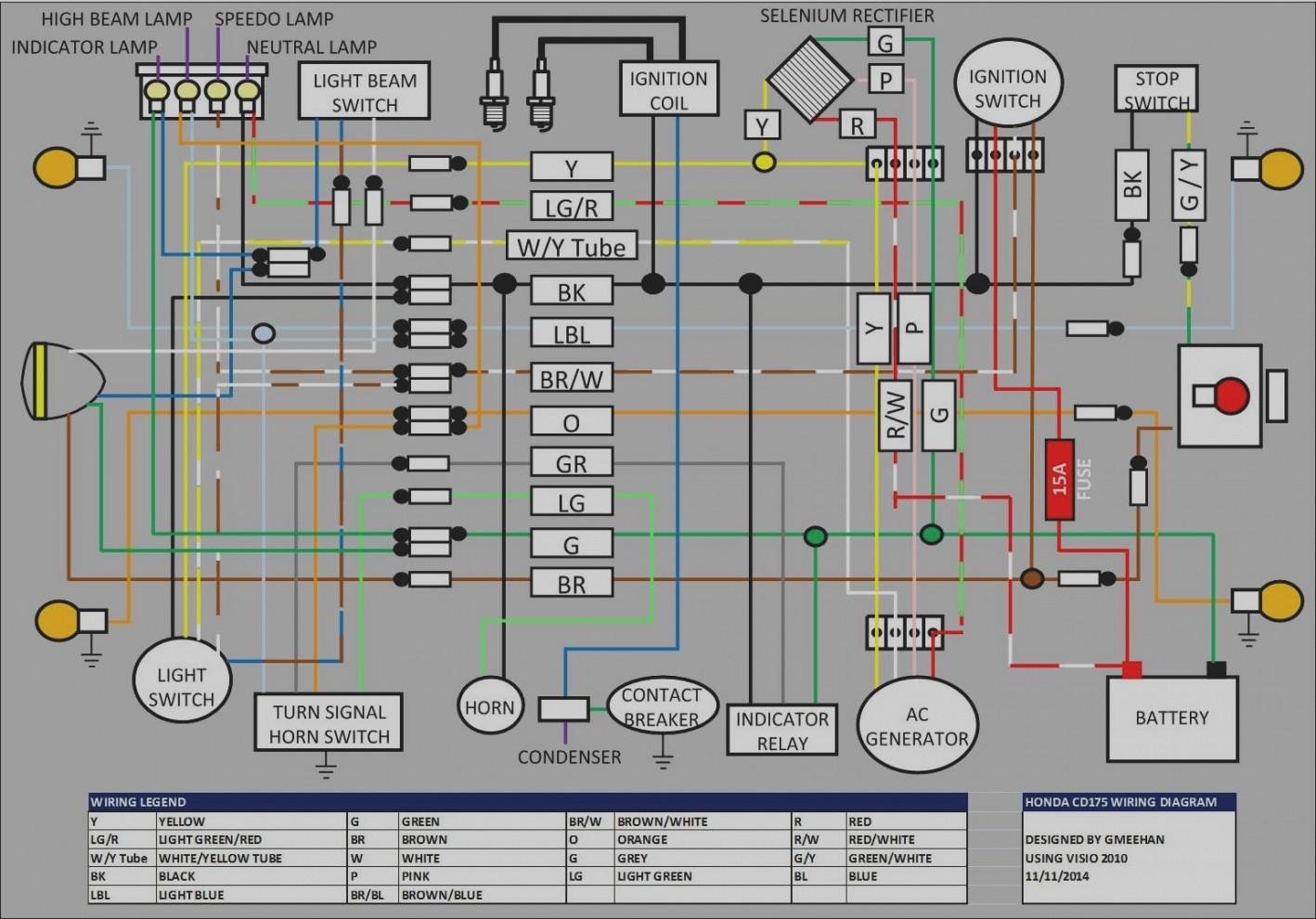 Wiring Diagram Of Honda Xrm 110 Full