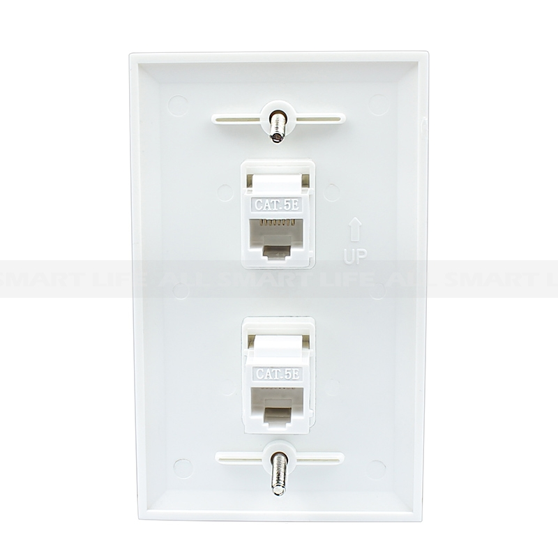 Stupendous Ethernet Network Cat5E Wall Plate Dual 2 Port Rj45 Connector Wiring Cloud Staixaidewilluminateatxorg