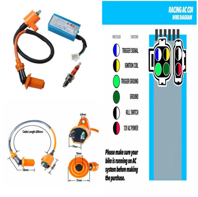 Phenomenal 6 Pins High Performance Cdi Ignition Coil Plug For Gy6 50Cc 150Cc Wiring Cloud Licukosporaidewilluminateatxorg