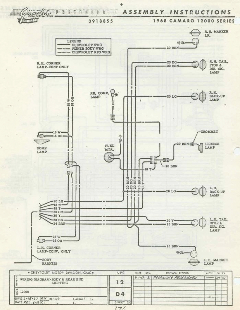 1968 Camaro Rear Harness Diagram Wiring Diagram Correction Correction Cfcarsnoleggio It