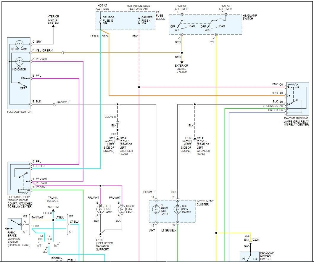 95 S10 Steering Column Wiring Diagram