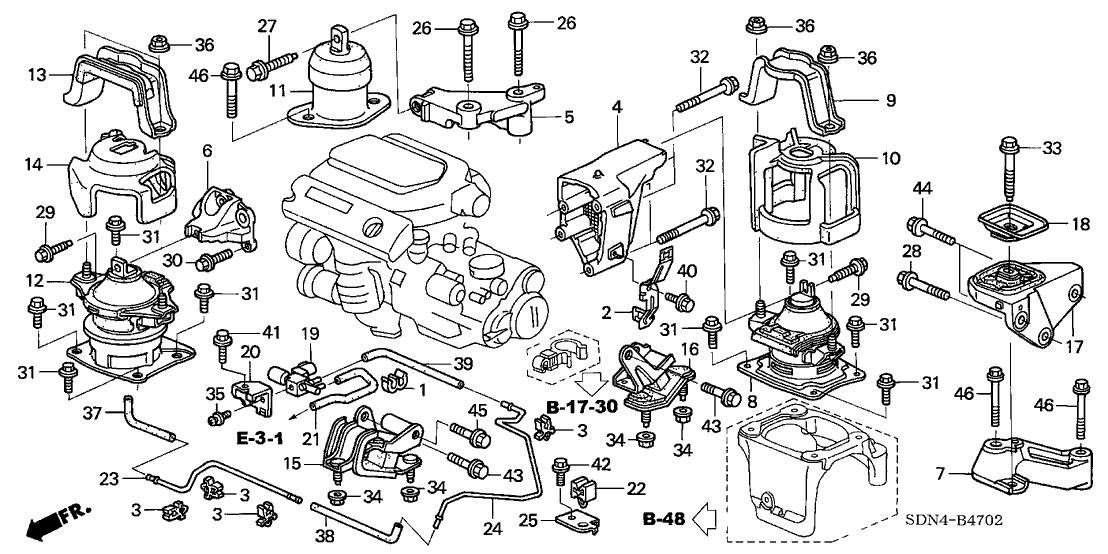 Surprising 2004 Honda Accord 2 Door Ex V6 Navigation Kl 6Mt Engine Mounts V6 Wiring Cloud Icalpermsplehendilmohammedshrineorg