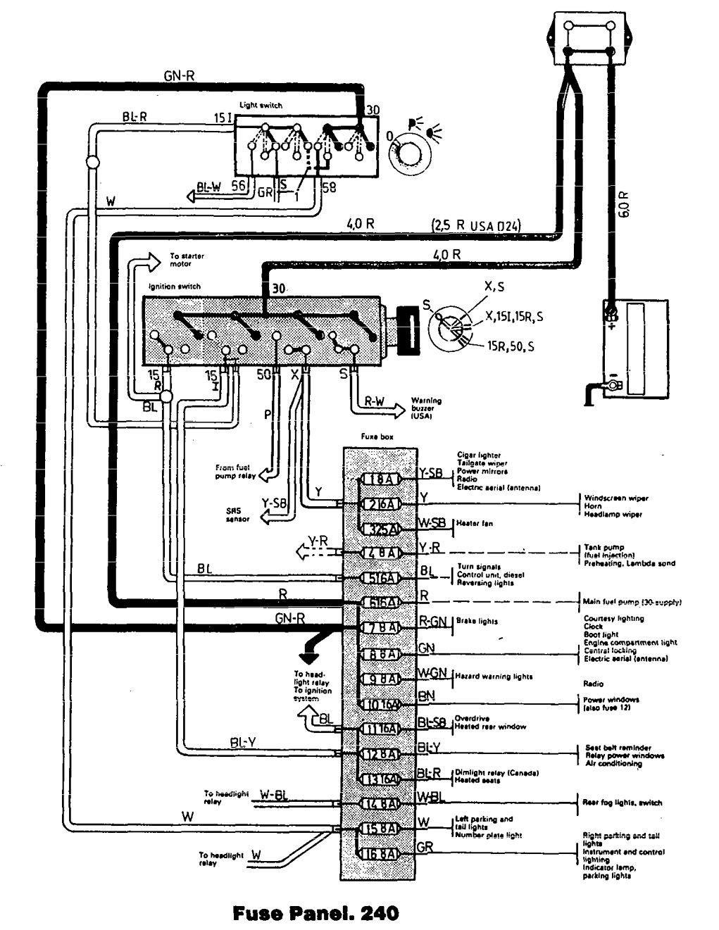 1992 Volvo 240 Wagon Wiring Diagram
