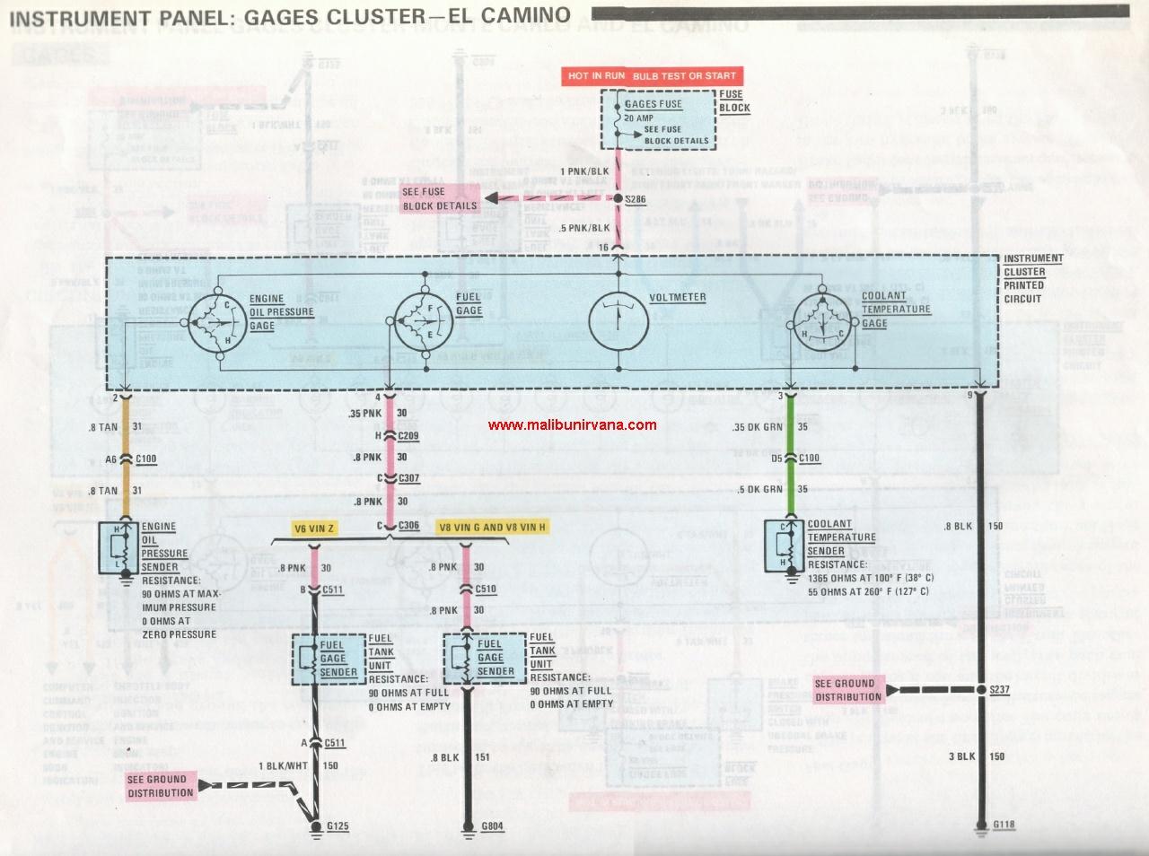 el camino wiring diagram oe 8524  1974 el camino fuse box 1970 el camino wiring diagram oe 8524  1974 el camino fuse box