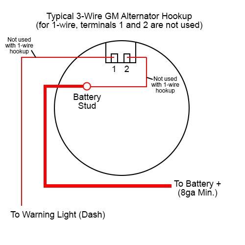 gm 1 wire alternator wiring  wiring diagram grounddesign
