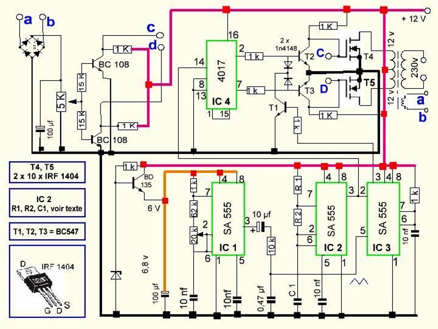 Hc 1053 How To Build A100 Watt Pure Sine Wave Inverter Circuit Homemade Schematic Wiring