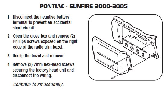Outstanding 2001 Pontiac Sunfire Installation Parts Harness Wires Kits Wiring Cloud Grayisramohammedshrineorg