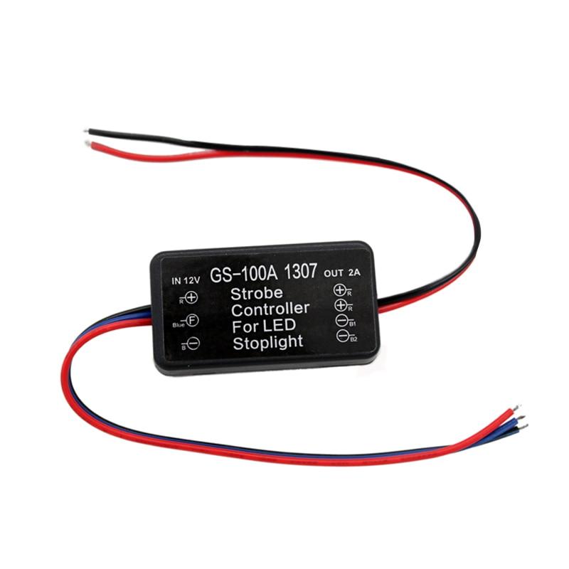 Pleasant Universal Strobe Controller Brake Light Flasher Module Flashing Back Wiring Cloud Onicaxeromohammedshrineorg